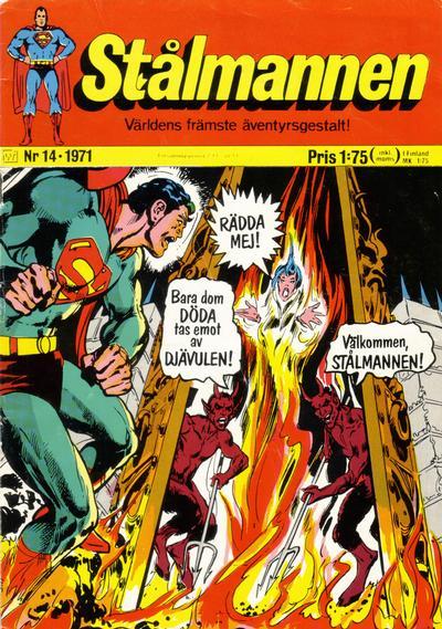 Cover for Stålmannen (Williams Förlags AB, 1969 series) #14/1971