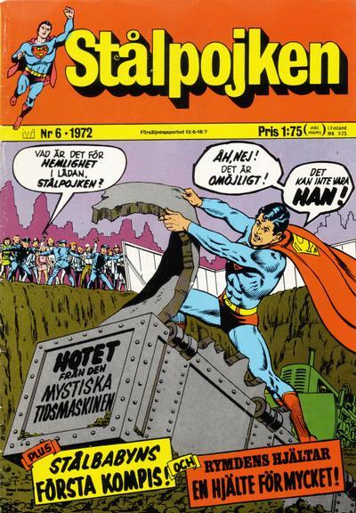 Cover for Stålpojken (Williams Förlags AB, 1969 series) #6/1972