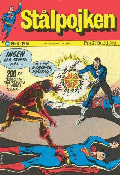 Cover for Stålpojken (Williams Förlags AB, 1969 series) #8/1974