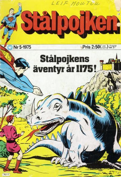 Cover for Stålpojken (Williams Förlags AB, 1969 series) #5/1975