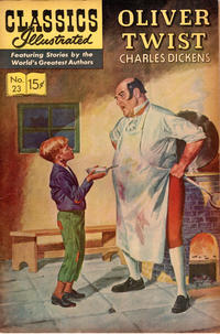 Cover Thumbnail for Classics Illustrated (Gilberton, 1947 series) #23 [HRN 167] - Oliver Twist