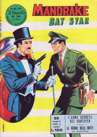 Cover for Mandrake - Il Vascello [Series One] (Edizioni Fratelli Spada, 1962 series) #94