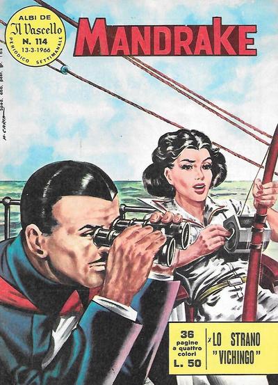 Cover for Mandrake - Il Vascello [Series One] (Edizioni Fratelli Spada, 1962 series) #114