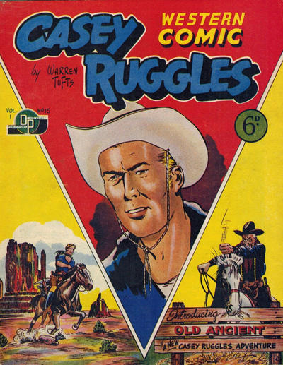 Cover for Casey Ruggles Western Comic (Donald F. Peters, 1951 series) #15