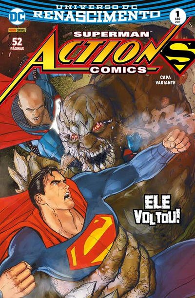 Cover for Action Comics (Panini Brasil, 2017 series) #1 [Capa Variante]