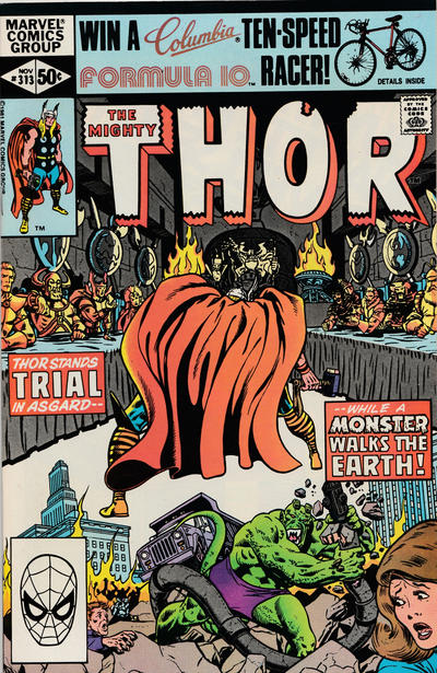 Cover for Thor (Marvel, 1966 series) #313 [Newsstand]