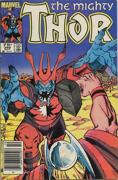 Cover for Thor (Marvel, 1966 series) #348 [Newsstand]
