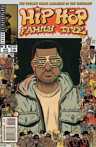 Cover for Hip Hop Family Tree (Fantagraphics, 2015 series) #1 [Kanye West cover]