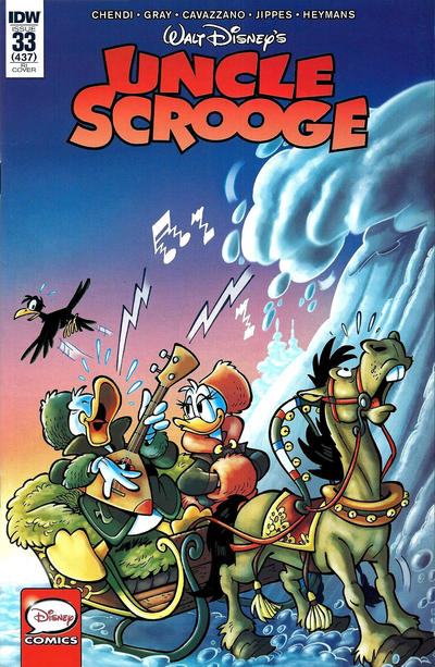 Cover for Uncle Scrooge (IDW, 2015 series) #33 / 437 [Cover B - Giorgio Cavazzano Variant]