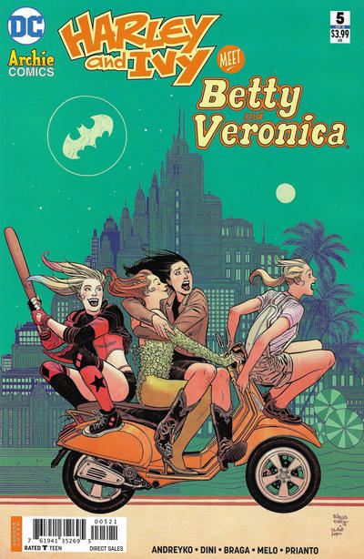 Cover for Harley & Ivy Meet Betty & Veronica (DC, 2017 series) #5 [Jen Bartel Cover]