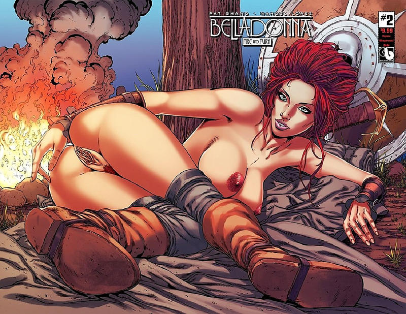 Cover for Belladonna: Fire and Fury (Avatar Press, 2017 series) #2 [Wraparound Cover]