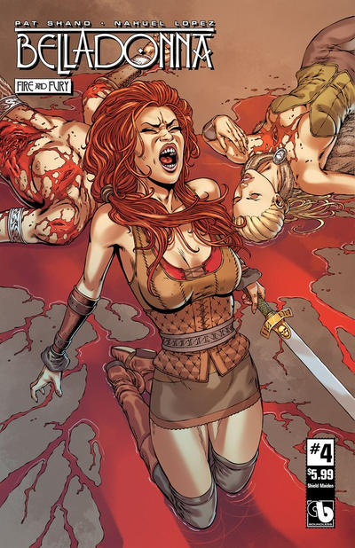 Cover for Belladonna: Fire and Fury (Avatar Press, 2017 series) #4 [Killer Body Nude Cover]