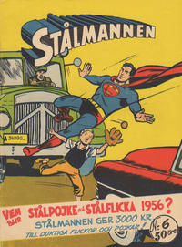 Cover Thumbnail for Stålmannen (Centerförlaget, 1949 series) #6/1956