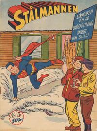 Cover Thumbnail for Stålmannen (Centerförlaget, 1949 series) #3/1953