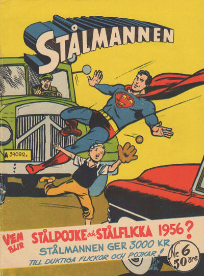 Cover for Stålmannen (Centerförlaget, 1949 series) #6/1956