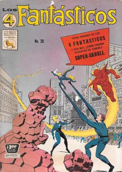 Cover for Los 4 Fantásticos (Editora de Periódicos La Prensa S.C.L., 1962 series) #20