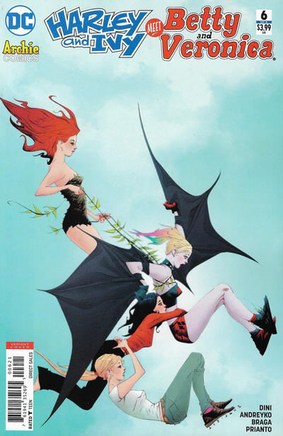 Cover for Harley & Ivy Meet Betty & Veronica (DC, 2017 series) #6 [Jae Lee Cover]