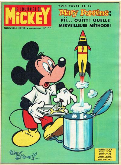 Cover for Le Journal de Mickey (Disney Hachette Presse, 1952 series) #701