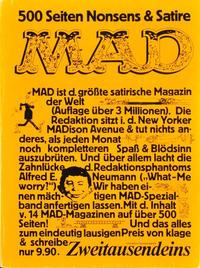 Cover Thumbnail for Mad-Sammelband [500 Seiten] (Zweitausendeins, 1979 ? series)