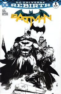 Cover Thumbnail for Batman (DC, 2016 series) #1 [Comic Madness Exclusive Ed Benes Black and White Variant]