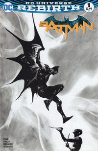 Cover Thumbnail for Batman (DC, 2016 series) #1 [Dynamic Forces Exclusive Jae Lee Black and White Variant]