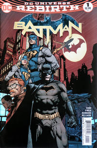 Cover Thumbnail for Batman (DC, 2016 series) #1 [Second Printing David Finch Variant]