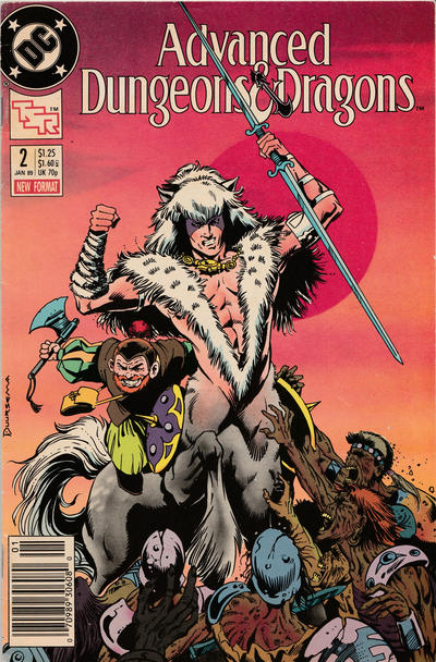Cover for Advanced Dungeons & Dragons Comic Book (DC, 1988 series) #2 [Newsstand]
