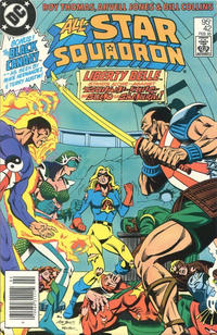 Cover Thumbnail for All-Star Squadron (DC, 1981 series) #42 [Canadian Newsstand]