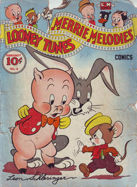 """Cover Thumbnail for Looney Tunes and Merrie Melodies Comics (Dell, 1941 series) #4 [small """"comics"""" on cover]"""