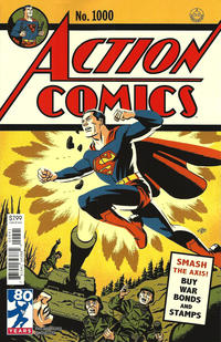 Cover Thumbnail for Action Comics (DC, 2011 series) #1000 [1940s Variant Cover by Michael Cho]
