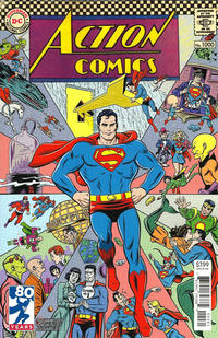 Cover Thumbnail for Action Comics (DC, 2011 series) #1000 [1960s Variant Cover by Michael Allred]