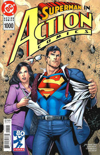 Cover Thumbnail for Action Comics (DC, 2011 series) #1000 [1990s Variant Cover by Dan Jurgens and Kevin Nowlan]