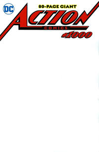 Cover Thumbnail for Action Comics (DC, 2011 series) #1000 [Blank Sketch Cover Variant]
