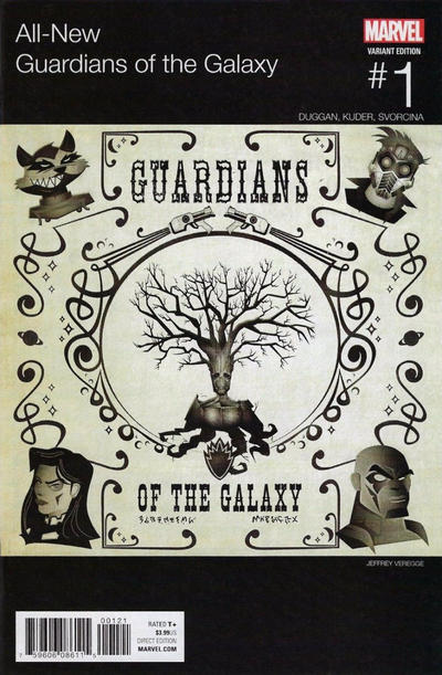 Cover for All-New Guardians of the Galaxy (Marvel, 2017 series) #1 [Incentive Jeffrey Veregge Hip Hop Variant]