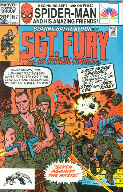 Cover for Sgt. Fury and His Howling Commandos (Marvel, 1974 series) #167 [Direct]