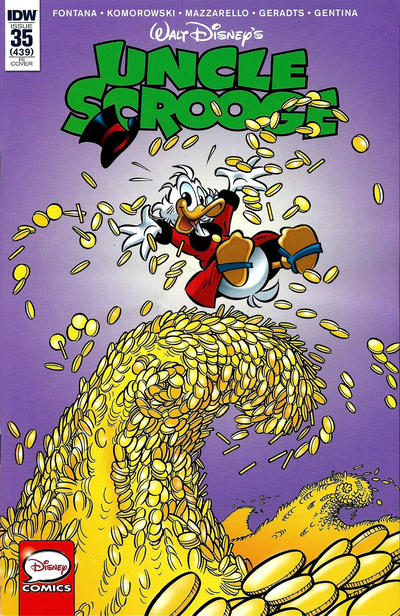 Cover for Uncle Scrooge (IDW, 2015 series) #35 [Cover B - Francisco Rodriguez Peinado Variant Art]