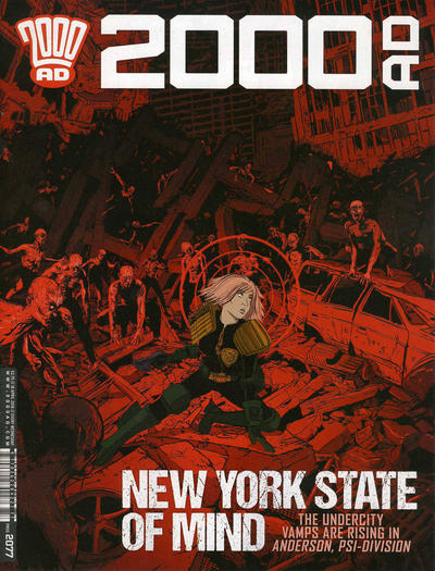 Cover for 2000 AD (Rebellion, 2001 series) #2077