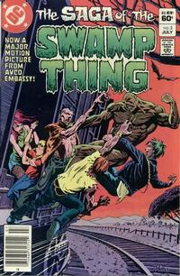 Cover for The Saga of Swamp Thing (DC, 1982 series) #3 [Newsstand]