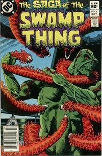 Cover Thumbnail for The Saga of Swamp Thing (DC, 1982 series) #6 [Newsstand]