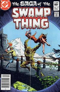 Cover Thumbnail for The Saga of Swamp Thing (DC, 1982 series) #12 [Newsstand]