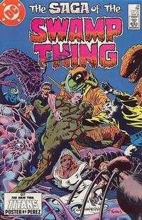 Cover Thumbnail for The Saga of Swamp Thing (DC, 1982 series) #22 [direct-sales]