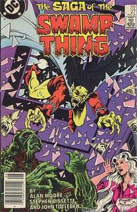 Cover Thumbnail for The Saga of Swamp Thing (DC, 1982 series) #27 [Newsstand]