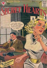 Cover for Secret Hearts (DC, 1949 series) #50