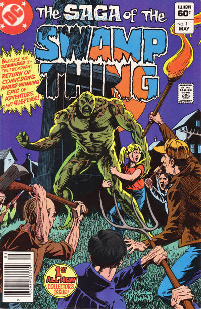Cover for The Saga of Swamp Thing (DC, 1982 series) #1 [Newsstand]