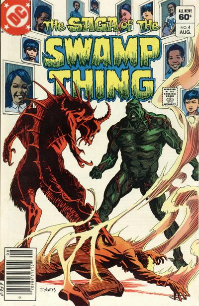 Cover for The Saga of Swamp Thing (DC, 1982 series) #4