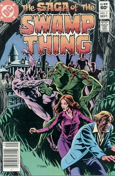 Cover for The Saga of Swamp Thing (DC, 1982 series) #5 [Direct Sales]
