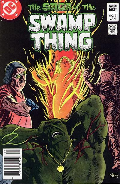 Cover for The Saga of Swamp Thing (DC, 1982 series) #9 [Direct Sales]