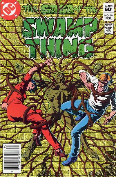 Cover for The Saga of Swamp Thing (DC, 1982 series) #10 [Newsstand]