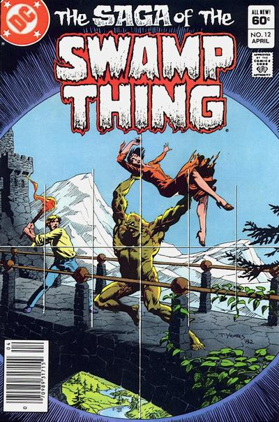Cover for The Saga of Swamp Thing (DC, 1982 series) #12 [Canadian Price Variant]