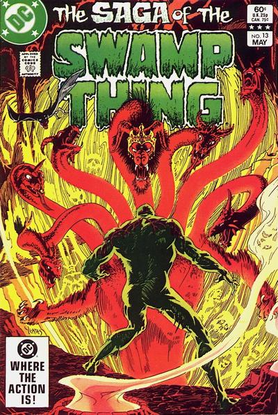 Cover for The Saga of Swamp Thing (DC, 1982 series) #13 [Canadian Price Variant]